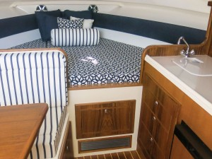 With classic styling and all the amenities, the cabin makes overnight stays appealing.